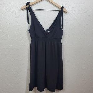 American Eagle Black Dress with Tie Shoulders